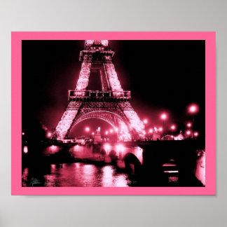 Eiffel Tower, Pont de Lena [Print] - Double Pink,  Poster