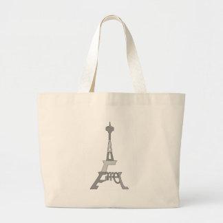 Eiffel Tower Pop Art Jumbo Tote Bag