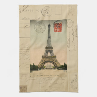 Eiffel Tower Postcard Kitchen Towel