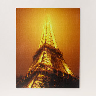 Eiffel tower puzzle pieces