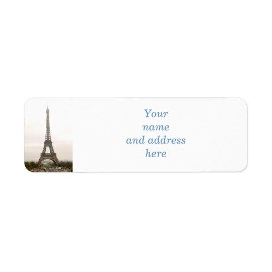 Eiffel tower return address label