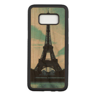 eiffel tower Samsung Galaxy S8 Slim Wood Case