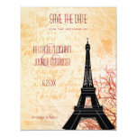 Eiffel Tower Save the Date Announcement