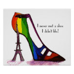 Eiffel Tower Shoe Poster