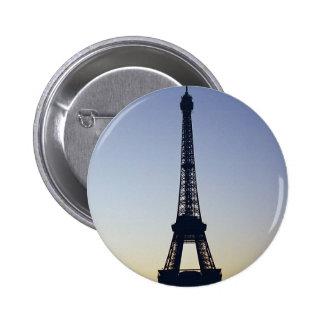 Eiffel Tower Silhouette 6 Cm Round Badge