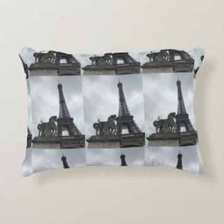Eiffel Tower Silhouette Accent Pillow