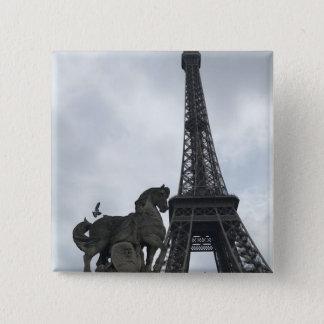 Eiffel Tower Silhouette Button