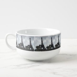 Eiffel Tower Silhouette Soup Mug