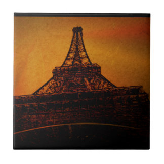 eiffel tower small square tile