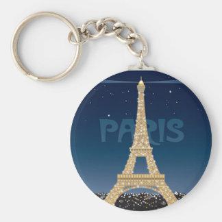 Eiffel Tower Sparkle key chain