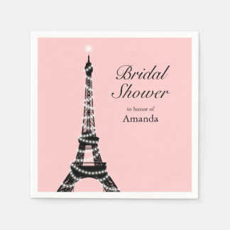Eiffel Tower Sparkles Napkin Paper Serviettes