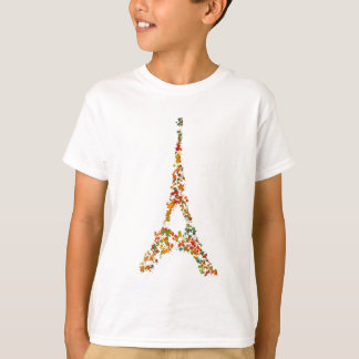 Eiffel Tower splatter painting multicolored Paris T-Shirt