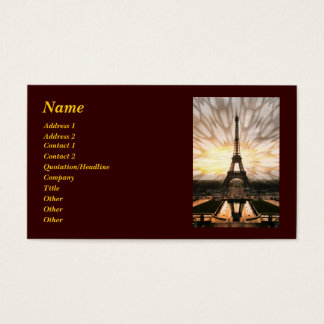 Eiffel Tower, template Business Card