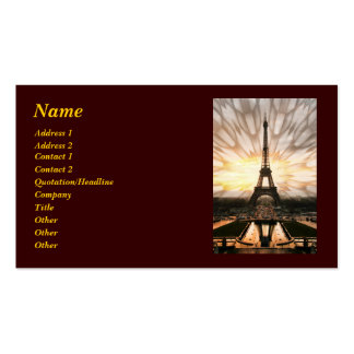Eiffel Tower, template Pack Of Standard Business Cards