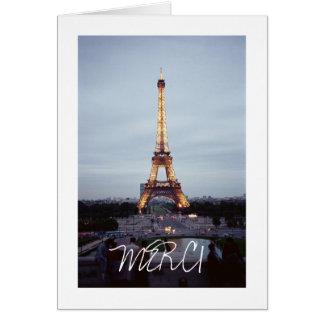 Eiffel Tower Thank You Card