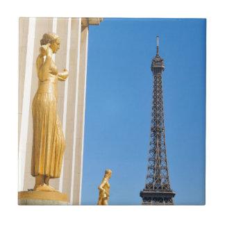 Eiffel Tower (Tour Eiffel) in Paris, France Small Square Tile