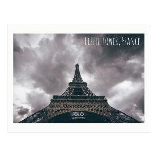 Eiffel tower tourist attraction landmark card postcard