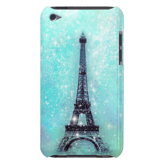 Eiffel Tower Turquoise iPod Case-Mate Cases