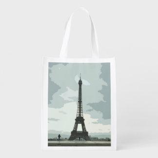 Eiffel Tower under Cloudy Skies