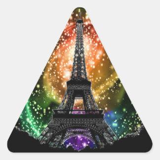 Eiffel Tower Universe Triangle Sticker