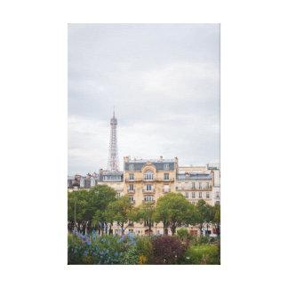 Eiffel Tower View 002 Canvas Print