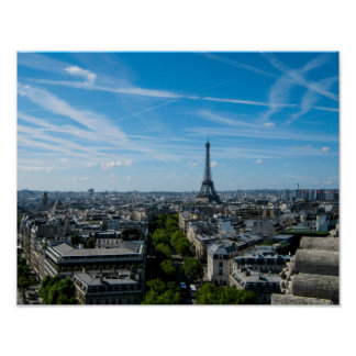 Eiffel Tower view from the Arc du Triomph - Poster