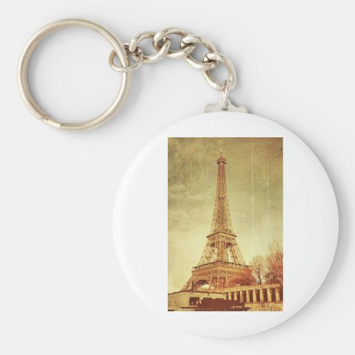 Eiffel Tower Vintage Keychain