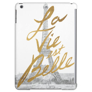 Eiffel Tower with Gold writing