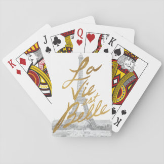 Eiffel Tower with Gold writing Playing Cards
