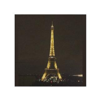 Eiffel Tower Wood Wall Art Wood Canvas