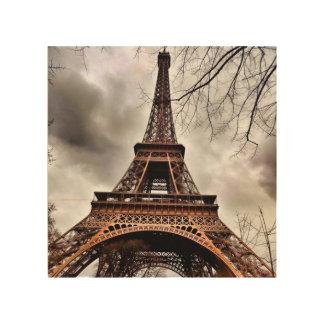 Eiffel Tower Wooden Art Block Wood Canvas