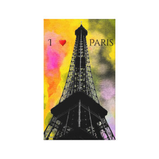Eiffel Tower Wrapped Canvas