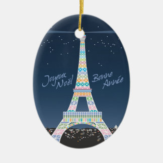 Eiffel Tower Xmas ornament