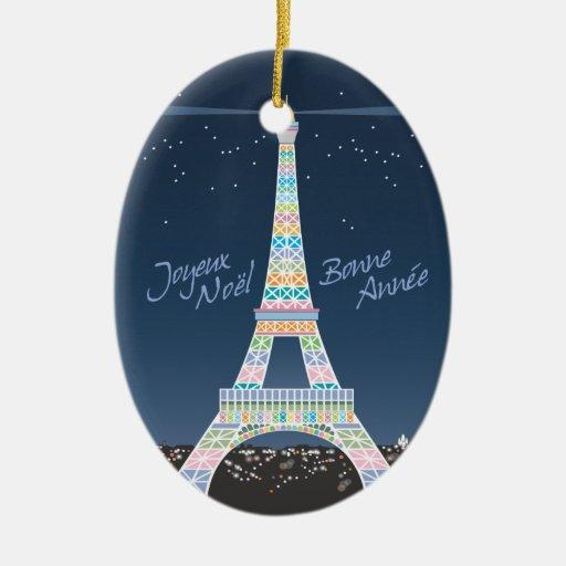 Eiffel Tower Xmas ornament