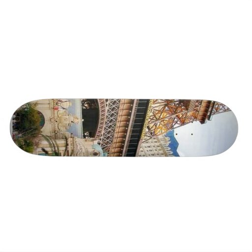 Eiffel Towers Las Vegas Paris Skateboard Deck