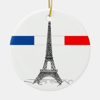 Eiffle Tower Ceramic Ornament