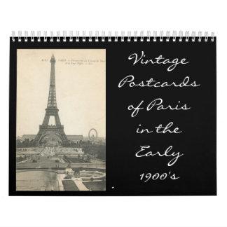 eiffle tower, VintagePostcardsof Paris in theEa... Calendar