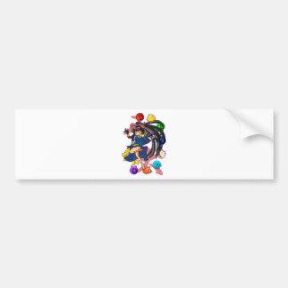 Eight 狗 God 伏 princess English story Nanso Chiba Bumper Sticker