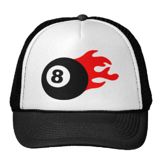 Eight Ball and Flames Cap