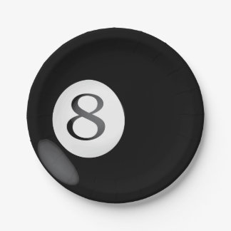 Eight Ball Paper Plates