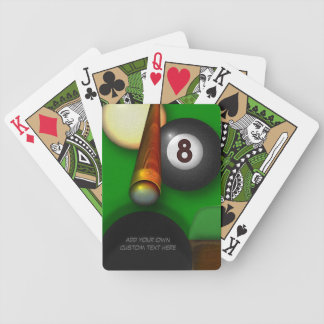 Eight Ball Pool and Billiards Personalized Bicycle Playing Cards