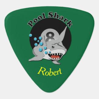 Eight Ball Pool Shark Guitar Pick