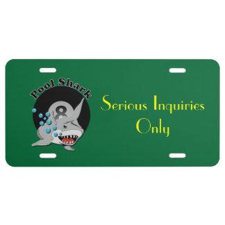 Eight Ball Pool Shark License Plate