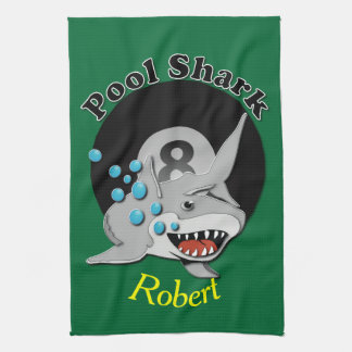 Eight Ball Pool Shark Tea Towel