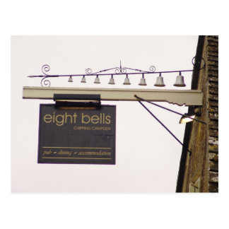Eight Bells Pub Sign Postcard