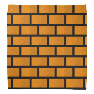 Eight Bit Brick Wall Bandana