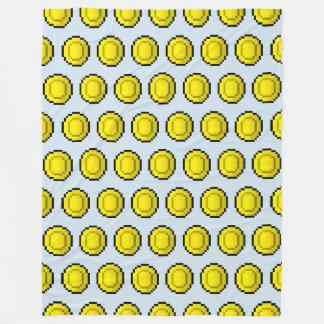 Eight Bit Gold Coins TP Fleece Blanket