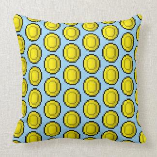 Eight Bit Gold Coins TP Throw Pillow