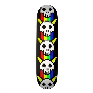 Eight Bit Horned Skull Custom Skate Board