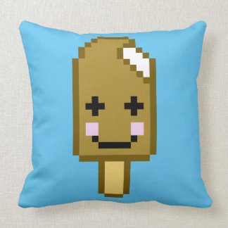 Eight Bit Ice Cream Throw Pillow